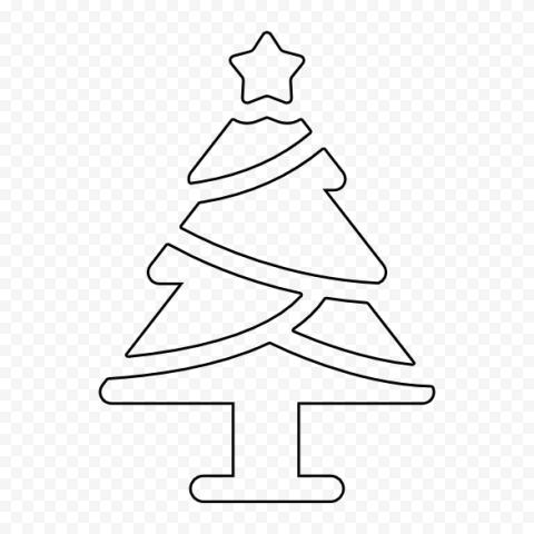 Hd Black Outline Christmas Tree Icon Png Tree Icon Christmas Tree Icon