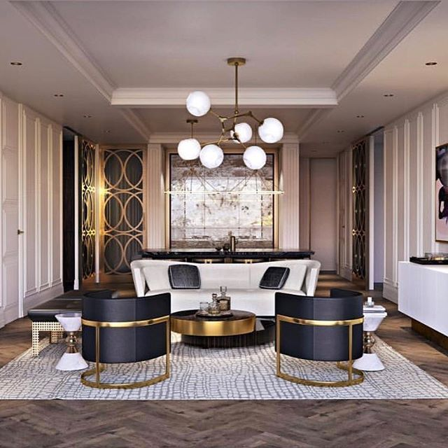 Glamorous Modern Pent House What An Incredibly Luxurious Gold Design Luxury Living Room Design Living Room Design Modern Luxury Home Decor