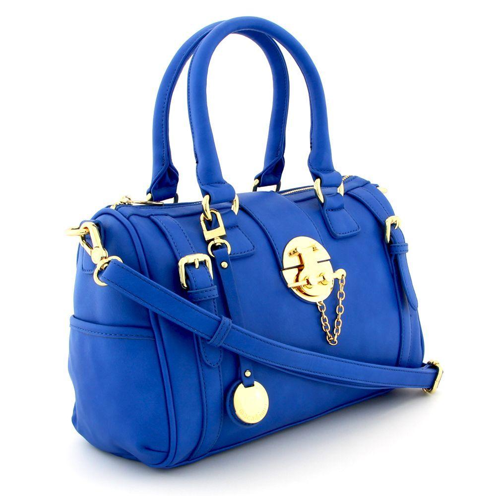 Bolsa De Mão Azul Royal : Bolsa azul de mao e