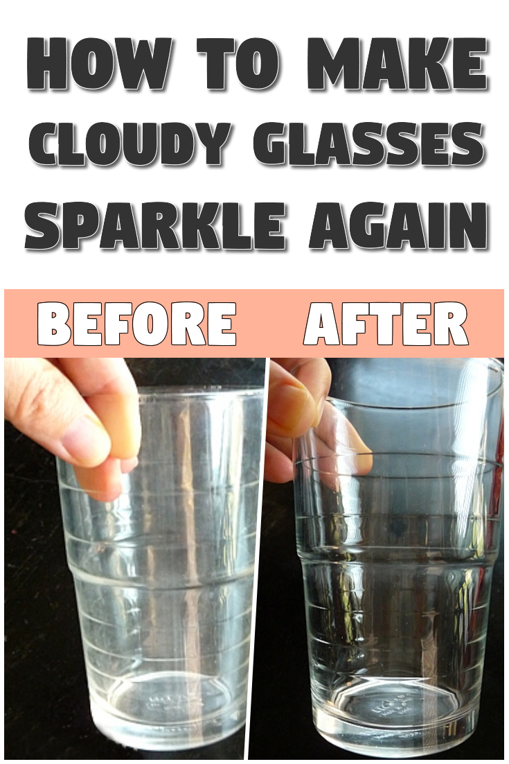 How To Make Cloudy Glasses Sparkle Again In 2020 Cloudy Glasses White Drinking Glasses Clean Glasses