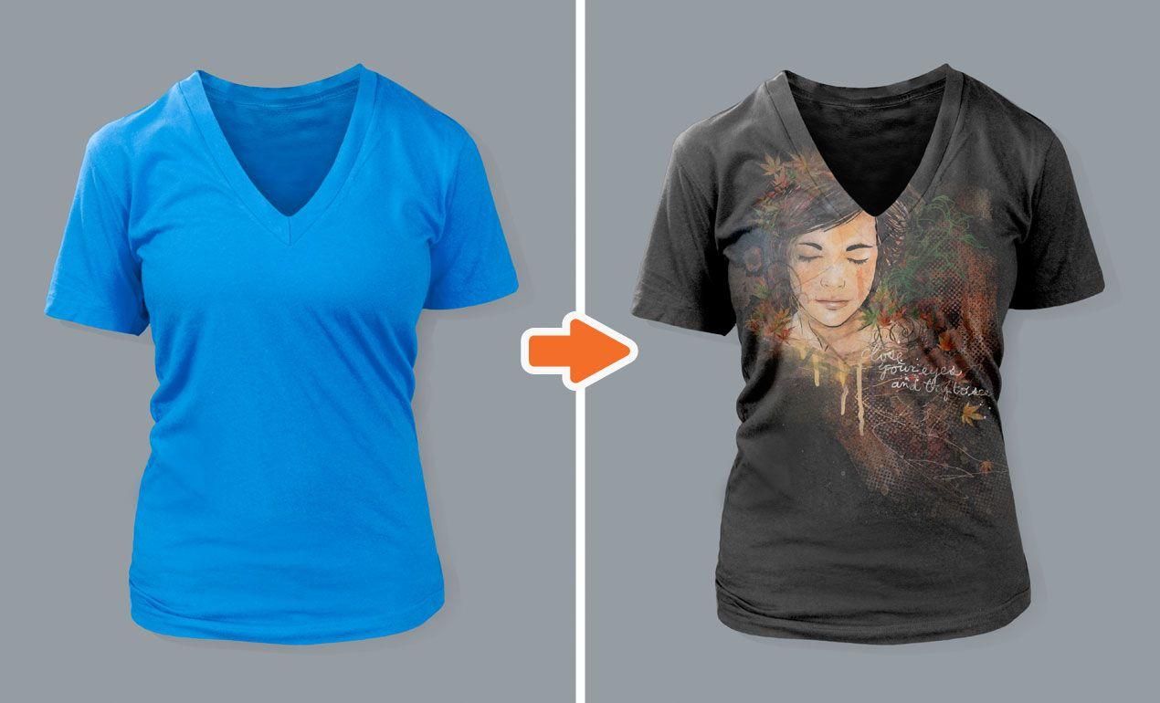 Download Ladies Deep V Neck T Shirt Mockup Templates Pack Shirt Mockup Clothing Mockup Tshirt Mockup