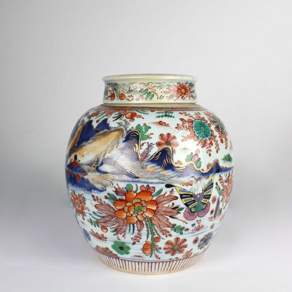 Large antique chinese porcelain imari palette ginger jar antique china reviewsmspy