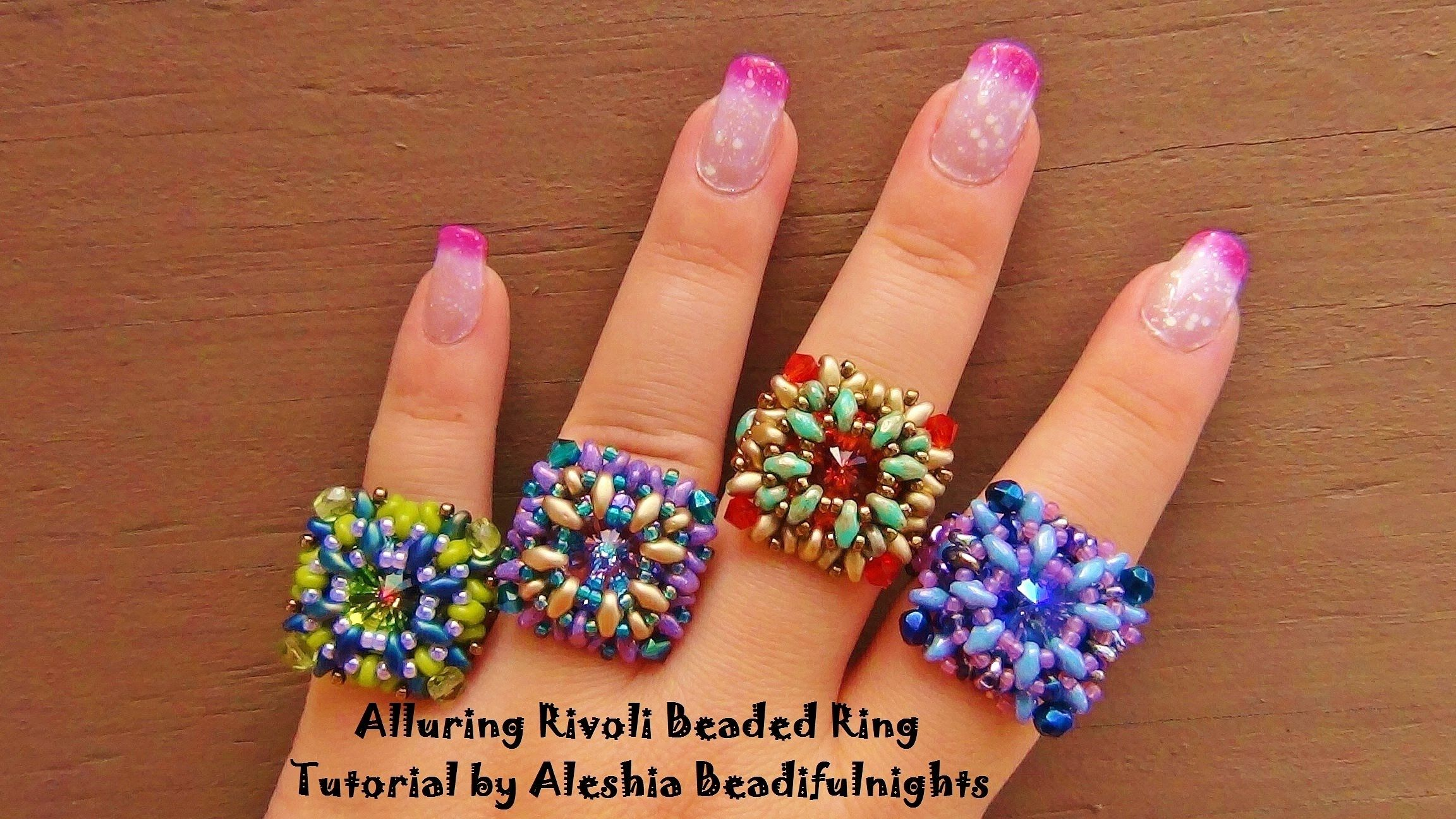 Alluring rivoli beaded ring seed bead tutorials seed bead alluring rivoli beaded ring seed bead tutorials baditri Choice Image