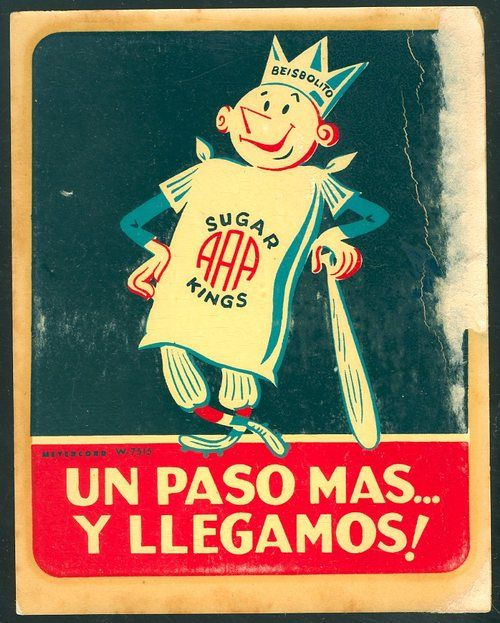 A 1950's Havana Sugar Kings decal  The Sugar Kings played in the