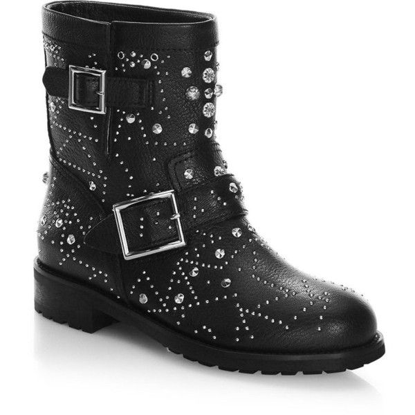 jimmy choo youth studded leather biker boots 1 595 liked on rh pinterest com