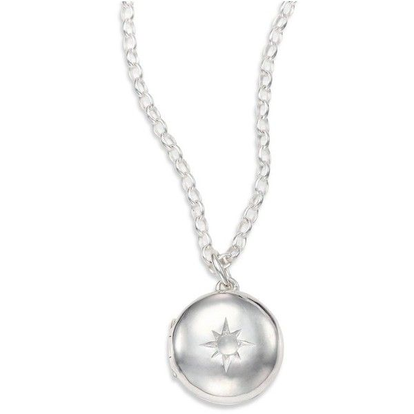 9fb6e1ee7b Astley Clarke Moonstone Sterling Silver Little Astley Locket Necklace  ($150) ❤ liked on Polyvore featuring jewelry, necklaces, silver, star  locket, ...