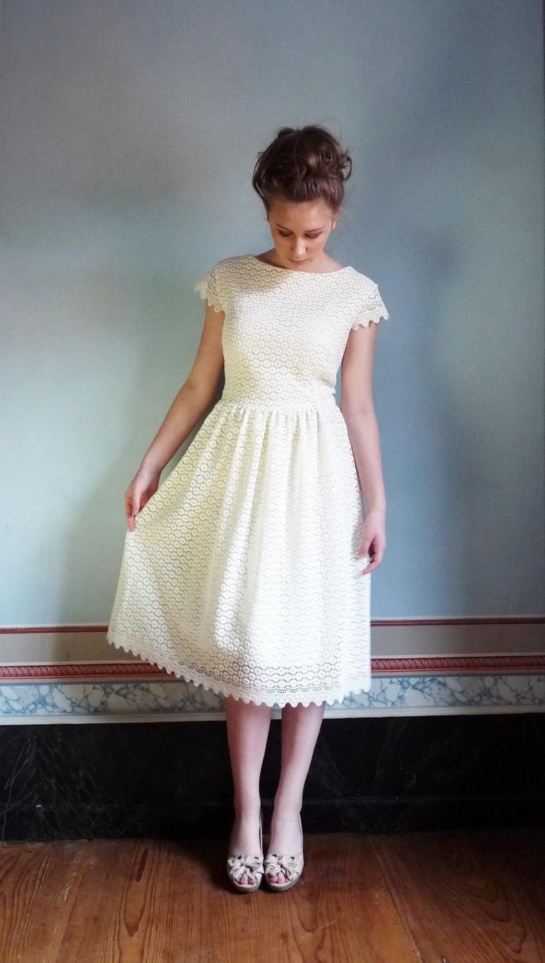 S O P H I A Bridal Gown Wedding Dress Registry Office Dress Etsy In 2020 Celebrity Wedding Dresses Informal Wedding Dresses Long Train Wedding Dress