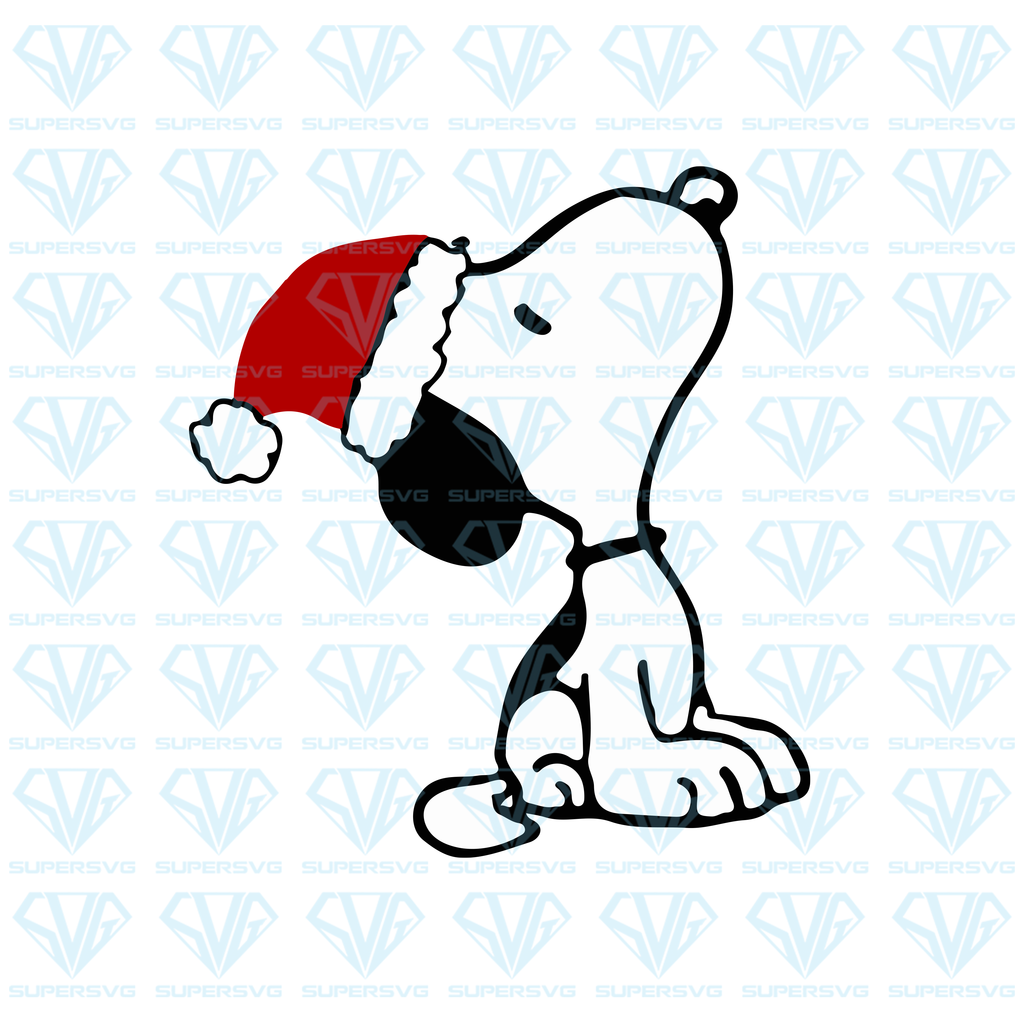 Snoopy Christmas SVG Files For Silhouette, Files For