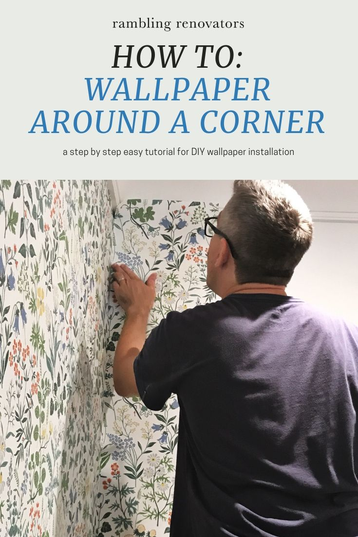 How To Apply Wallpaper Around A Corner in 2020 How to