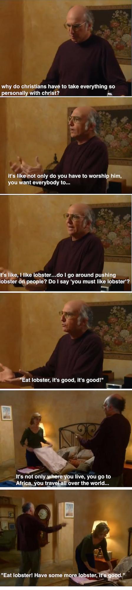 Atheistmemebase Com Comedy Cartoon Curb Your Enthusiasm Larry David