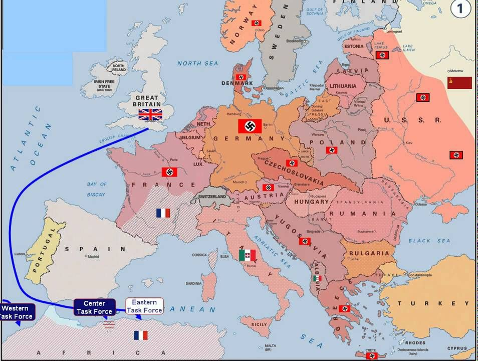Amazing interactive map that shows how WW2 plays out in Eastern and Western E