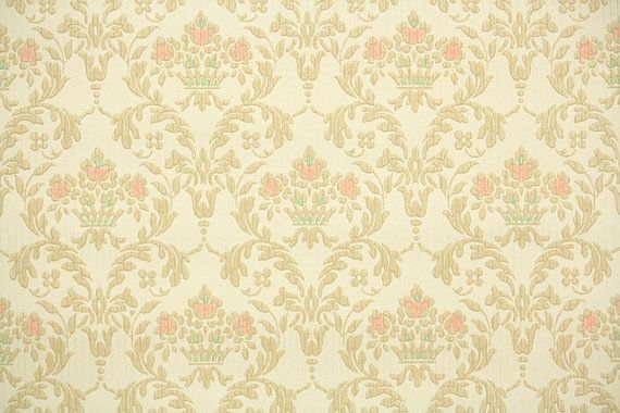 1930s Vintage Wallpaper by the Yard - Antique Victorian ...
