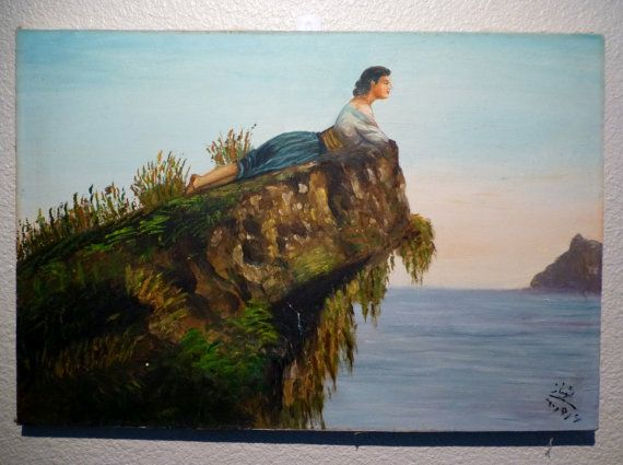 Thomas Moran Indians on a Cliff painting anysize 50% off - Indians ...