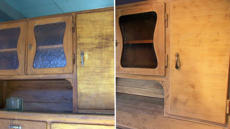 Küchenschrank: Einfach selbst restauriert   Restaurieren, Altes holz ...