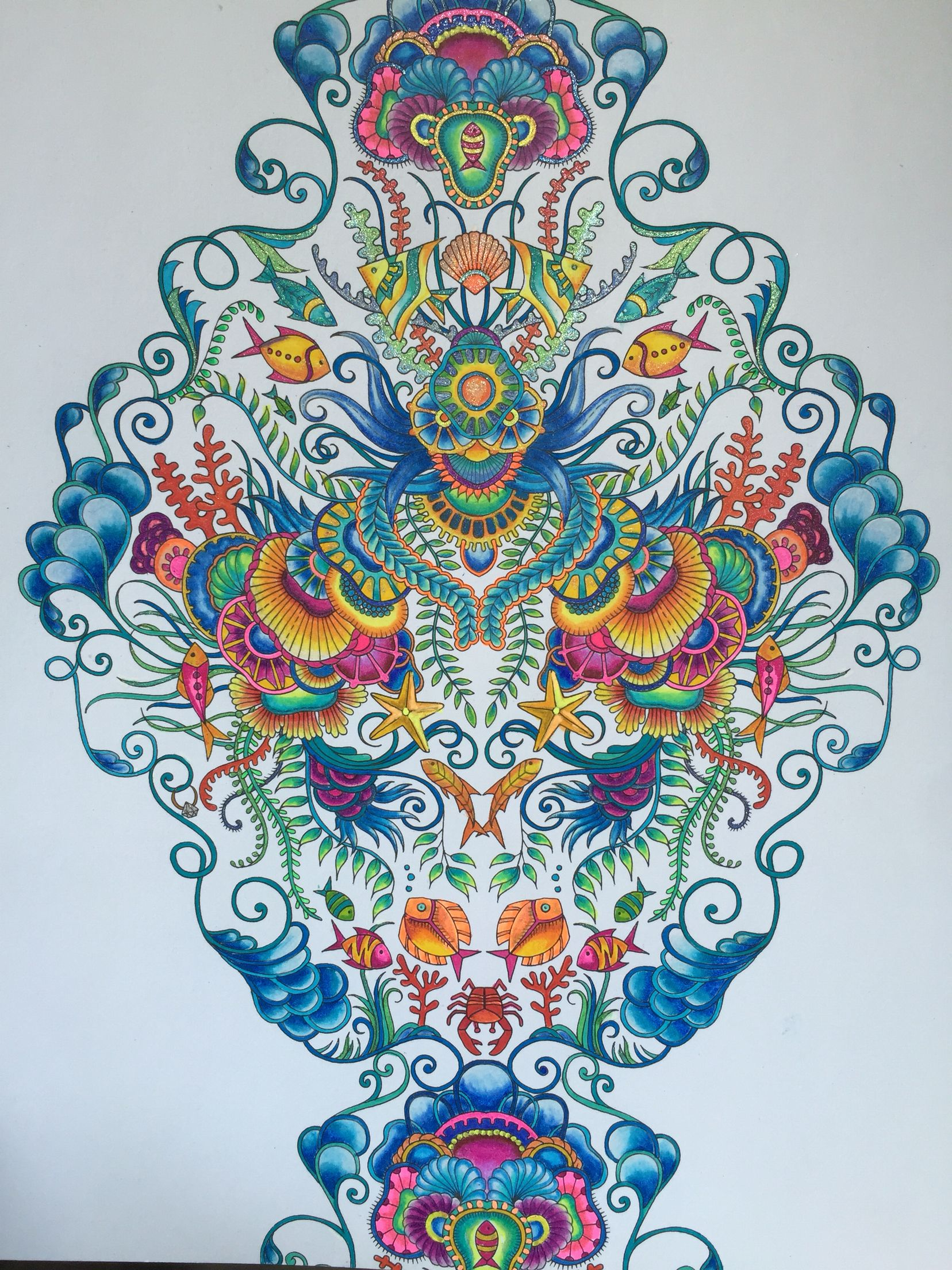Johanna Basford Lost Ocean Gel PensAdult ColoringColoring BooksPrismacolor