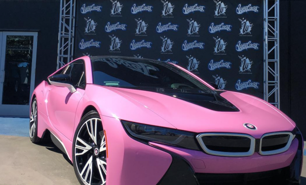 A Pink Bmw I8 From West Coast Custom