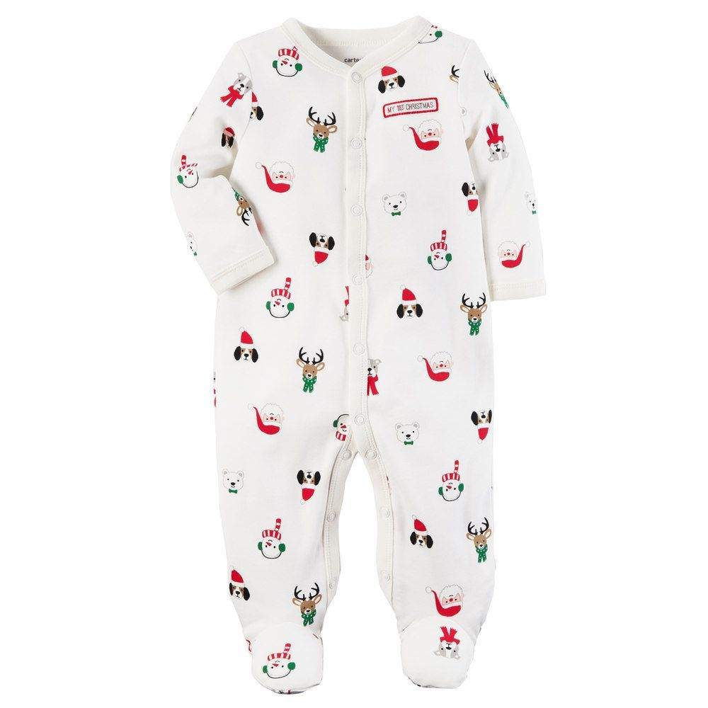 06ad9d1f1 Baby Carter s Christmas Characters Footed Pajamas