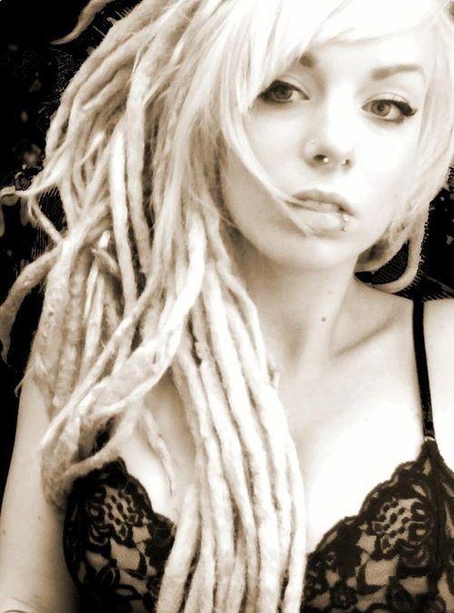 Sexy girl woman blonde dreadlocks steampunk