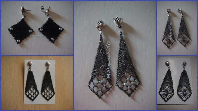 several crochet earrings (wire crochet maybe)  I didn't go check yet.