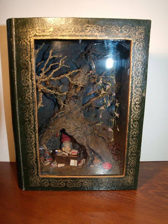 Ooak Little Fairy Dwarf Scene In A Book Reservation For