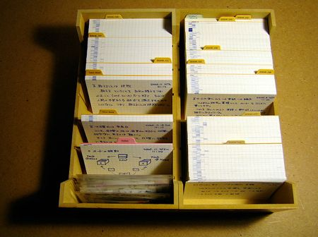 The Pile Of Index Cards Poic System Unclutterer Study Cards