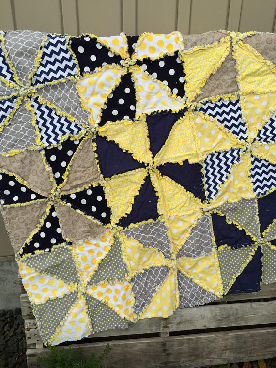 Pinwheel Quilt Pattern Crib Bedding Baby Quilt Pattern Geometric