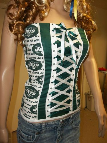 Diy Nfl Football Team Corsets Strapless Medium Women's Clothing Football-nfl