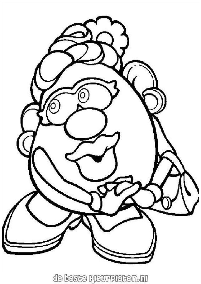 Mr Potato Coloring Pages