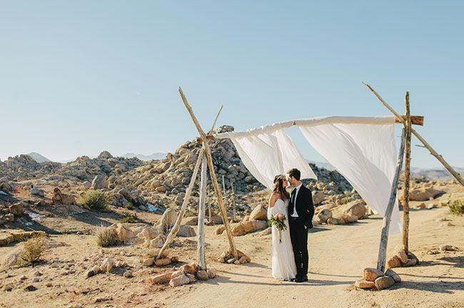 Photo of Boho Winter Desert Wedding: Erika + Sean – Green Wedding Shoes