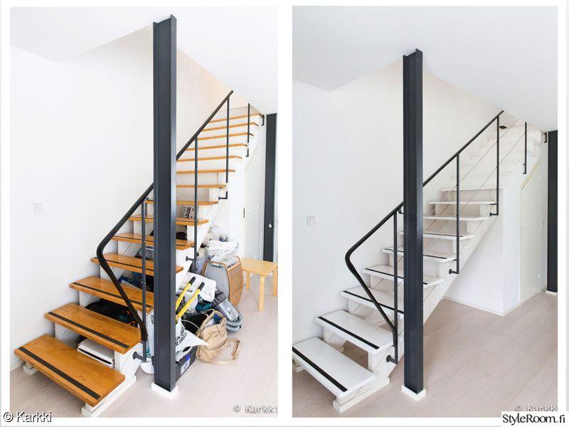 portaat,eteinen,portaikko,remontti,kaide