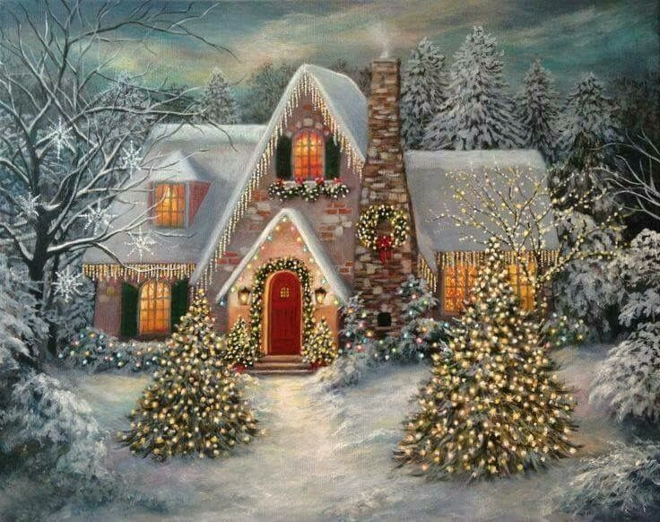 Christmas Scenes Images.Pin By Rebecca Williams On Christmas Art Christmas Scenes