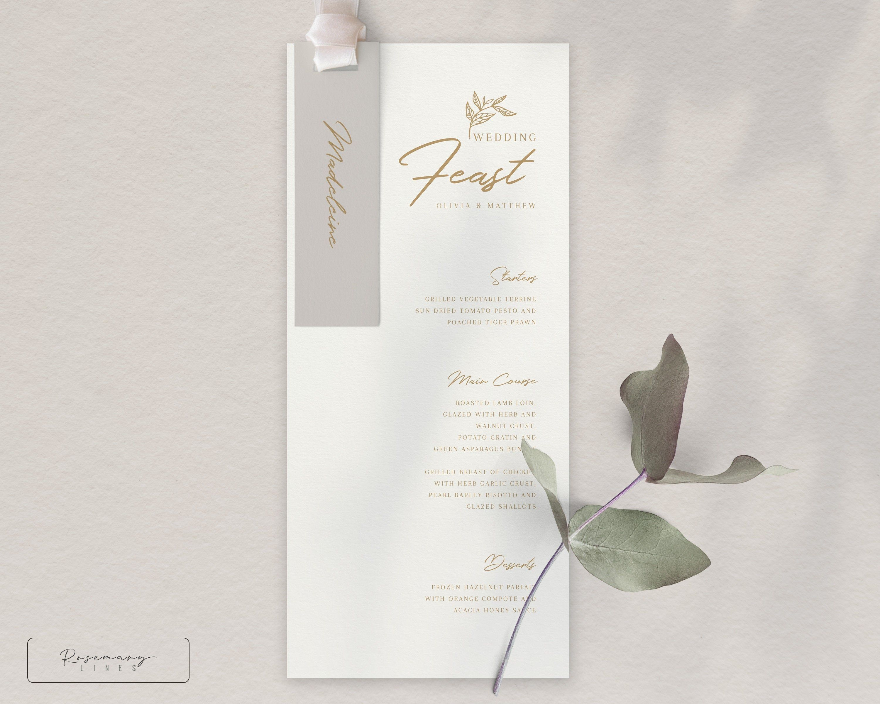 Wedding Menu Template, Minimalist Menu Template, Gold Menu Template, Modern Wedding Menu Cards, BONUS Place Card, INSTANT DOWNLOAD #078-9 #weddingmenutemplate Wedding Menu Template, Minimalist Menu Template, Gold Menu Template, Modern Wedding Menu Cards, BONUS Place Card, INSTANT DOWNLOAD #078-9