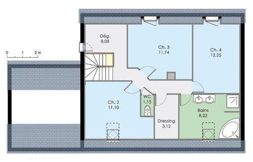 Maison moderne de quatre chambres