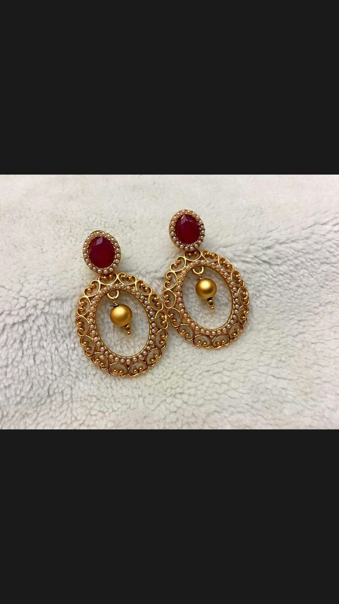 d80f37aed9e8  pintrest Dixna deol Indian Earrings Gold