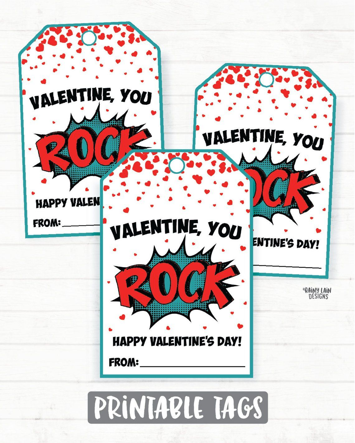It is an image of Selective You Rock Valentine Printable
