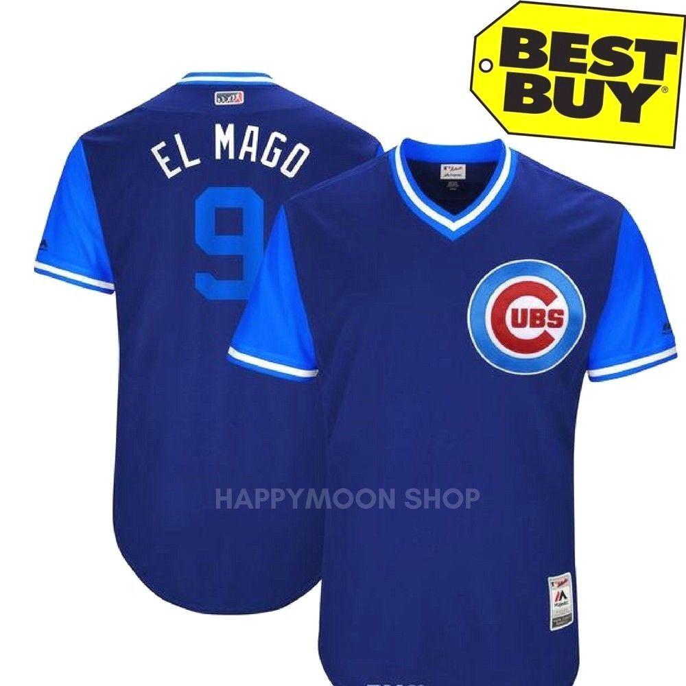 c26715d4373 Chicago Cubs  9 Javier Baez - ELMAGO Players Weekend Nickname Jersey Blue   chicagocubsjerseyBlue