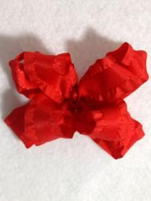 Small Double Ruffle Bow, more colors available