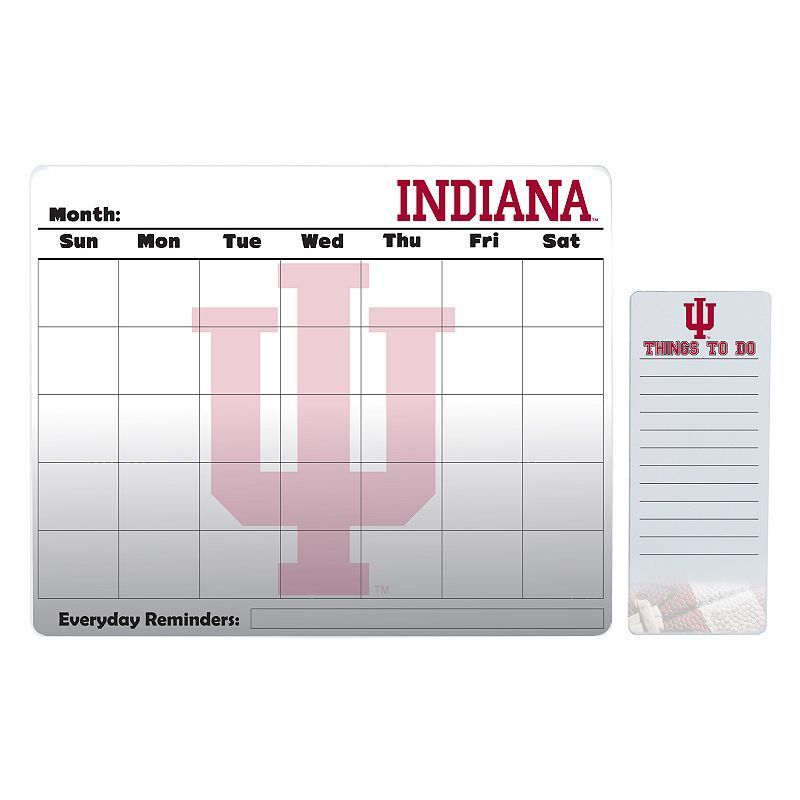 Indiana Hoosiers Magnetic Dry Erase Calendar & To-Do Board Set, Multicolor