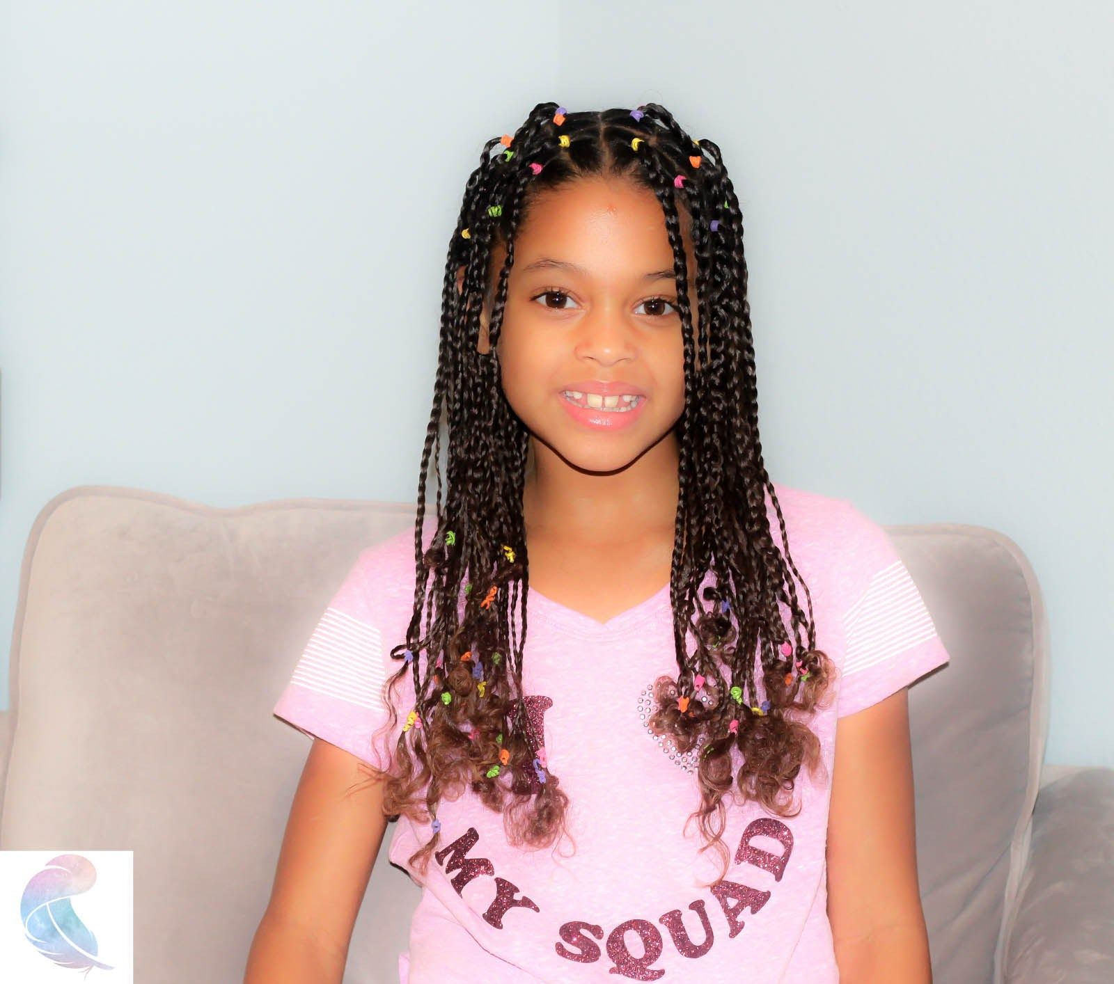 Easy box braids on mixed kid's hair, a protective style ...