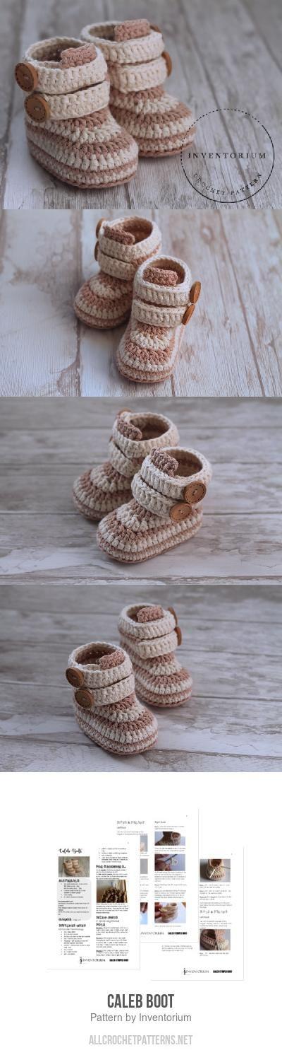 Caleb Boot crochet pattern by Inventorium | Zapatos, Bebé y Botas
