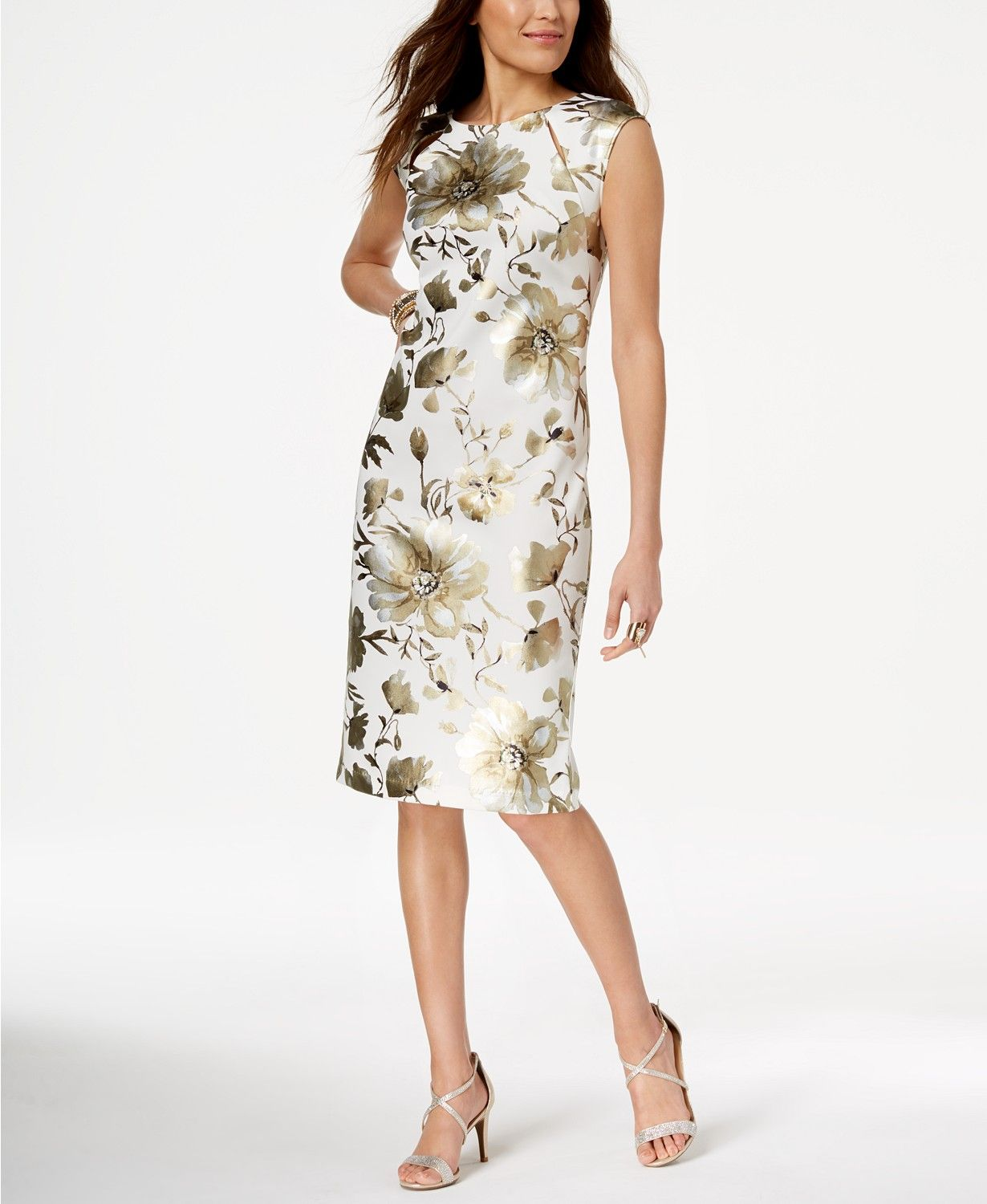 What To Wear To A Summer Wedding Printed Sheath Dresses Dresses Dresses To Wear To A Wedding [ 1500 x 1230 Pixel ]