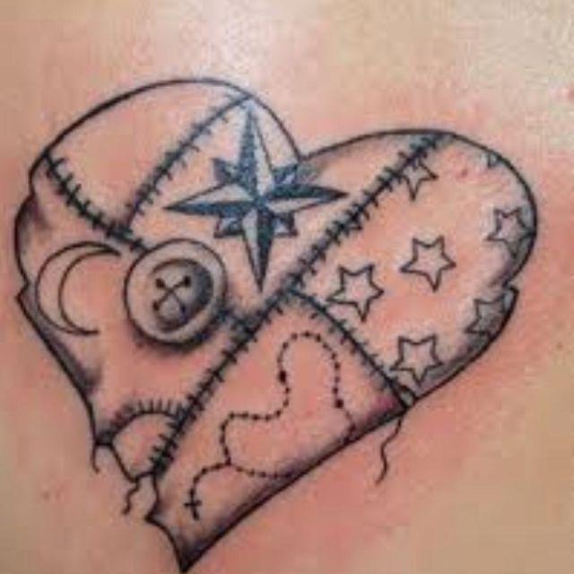 Patchwork heart ❤ | tattoo ideas | Pinterest | Patchwork heart ... : quilt heart tattoo - Adamdwight.com