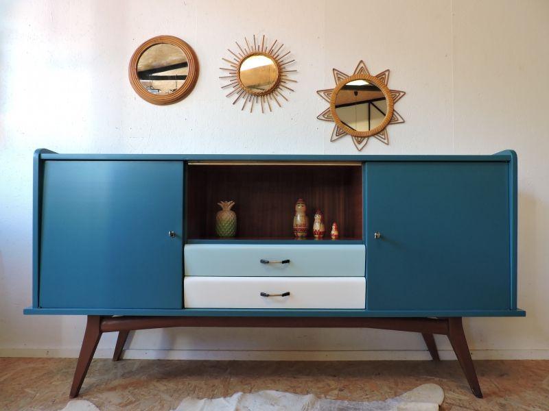 Bahut Annees 60 Revisite Mobilier De Salon Relooking De Mobilier Decoration Meuble