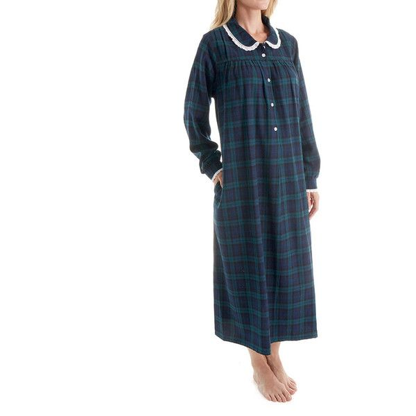 Lanz of Salzburg 5616824 Long Sleeve Flannel Gown ($68) ❤ liked on ...
