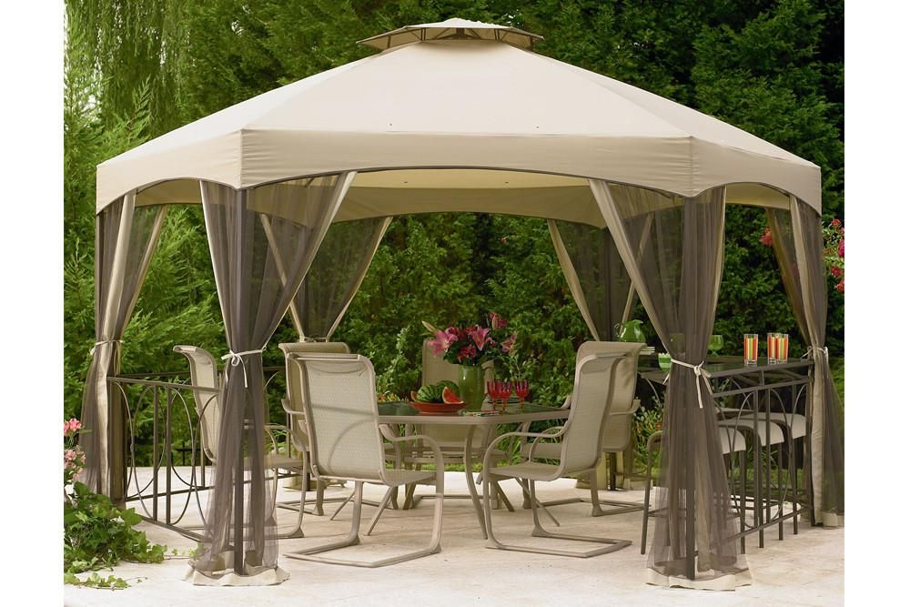 Dutch Harbor Gazebo Insect Netting Canopy Outdoor Gazebo Canopy Gazebo Replacement Canopy