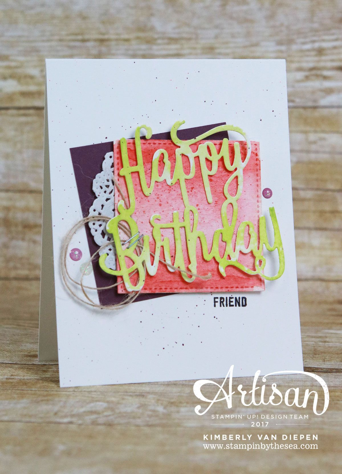 Birthday celebration be inspired stampin up stampin by the sea happy birthday thinlits thoughtful banners