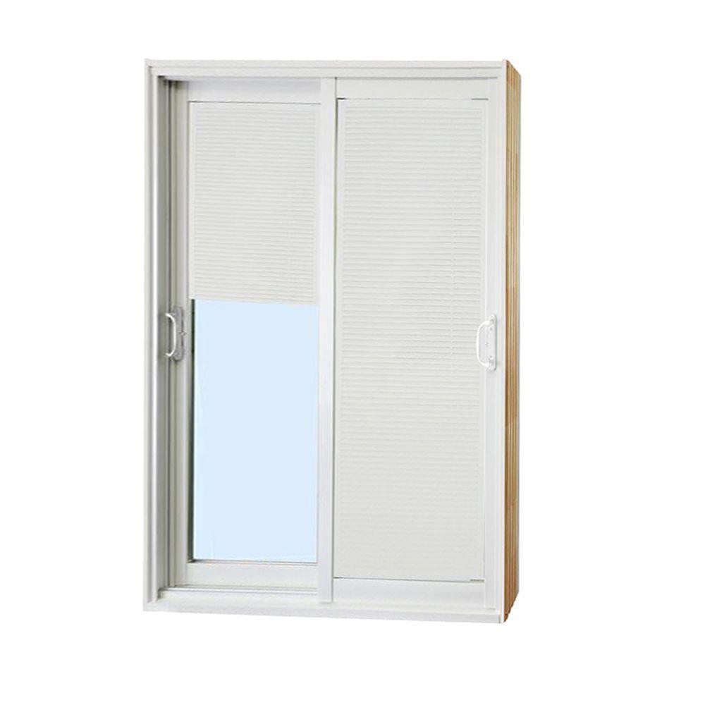 Stanley Doors 60 In X 80 In Double Sliding Patio Door With