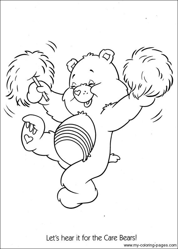 Care Bears Coloring082 Crafty