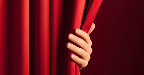 The Person Behind The Curtain Curtains Onstage Behind The Scenes