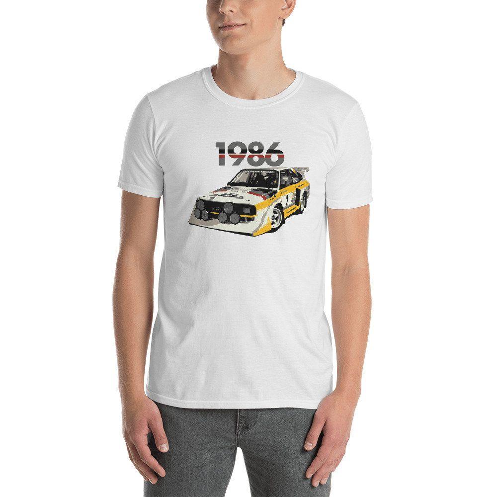 Audi Sport Rally Ur Quattro Group B T Shirt: Audi Sport Quattro S1 Rally Car '86 T-Shirt In 2019